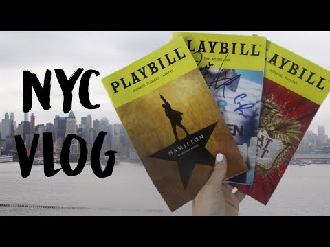 Seeing Hamilton on Broadway! | NYC Vlog