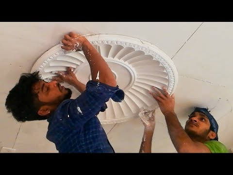 The Way Has Been Created Gypsum Flower Ceiling.How Does Our People Fittings Ceiling Rose.See Desing.