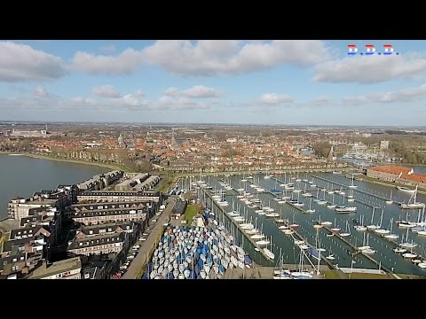 Above the harbor of Hoorn (full HD)