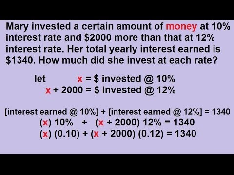 Investment Word Problems (solutions, examples, videos ... on math lessons answers, math graphing worksheets, math project answers, math table answers, math puzzle answers, math sheet answers, math test answers, worksheets and answers, math enrichment worksheets,