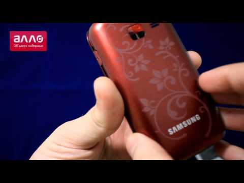 Демонстрация телефона Samsung Wave Y S5380D wine red La Fleur