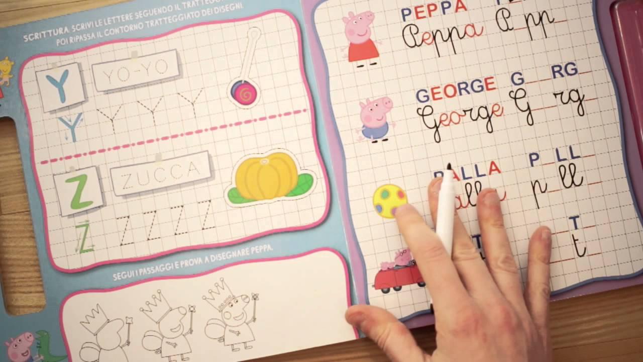Prescrittura e scrittura esercizi per bambini con peppa for Altalena con scivolo per bambini