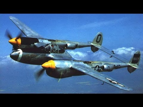 Lockheed P-38 Lightning Aircraft WWII Pilot Flight Training Film 1943