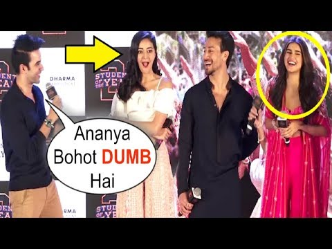 Tara Sutaria LAUGHS When Ananya Pandey Gets INSULTED At Mumbai Dilli Di Kudiya Song Launch