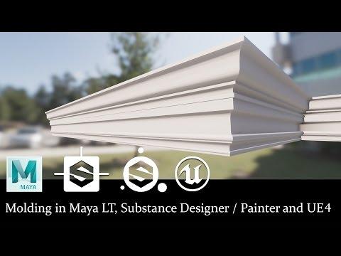 Molding in Maya LT, Substance Designer, Painter, and UE4!