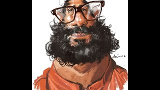 How to Draw Caricatures-Quick Caricature   Photoshop Tutorial   Asim chandro roy