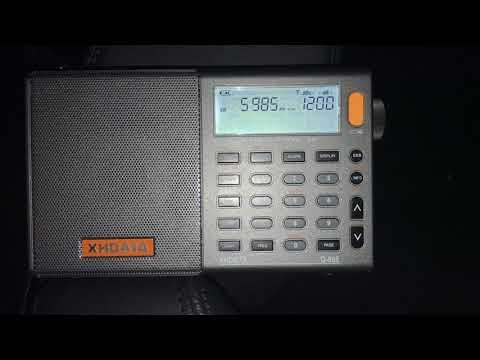 XHDATA D-808: Myanmar Radio 5985 kHz, Myanmar (Burma) copied on the telescopic