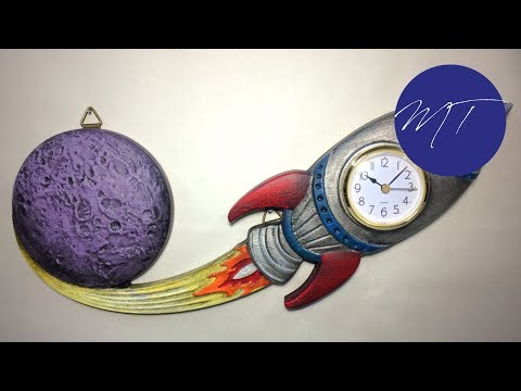 Making a Rocket Clock with a CNC | Michael Tylers FREE Project of the Month | Vectric