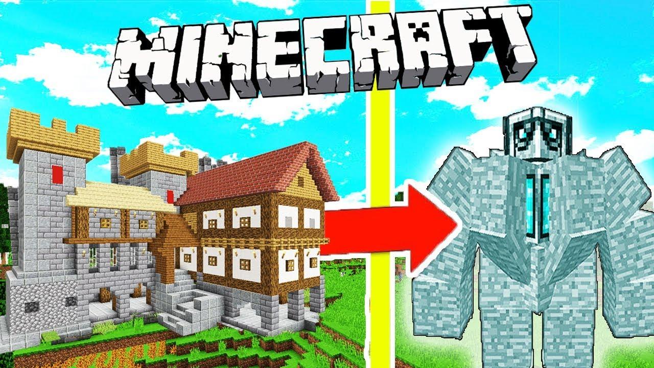 UN GOLEM EN DIAMANT ATTAQUE MON CHÂTEAU ! Minecraft survie Dragon Ep 11