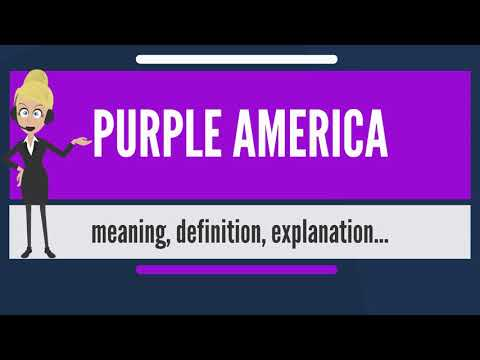 What is PURPLE AMERICA? What does PURPLE AMERICA mean? PURPLE AMERICA meaning & explanation