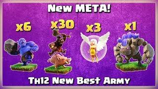 Th12 New META! 6 Bowler+ 3 Healer+ Golem+ 30 Hogs   TH12 War Strategy #51   COC 2018  