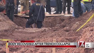Missing worker's body removed from collapsed trench at Wake County construction site