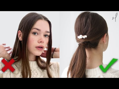 8 Ways To Style Your Hair | **Under 60 Seconds** - YouTube