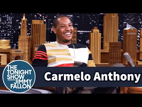 Carmelo Anthony's Son Loves Hanging Out with Jimmy at Games