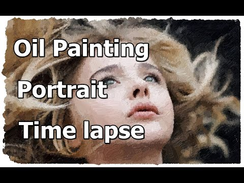 Chloe Moretz  Oil Painting Portrait Time lapse