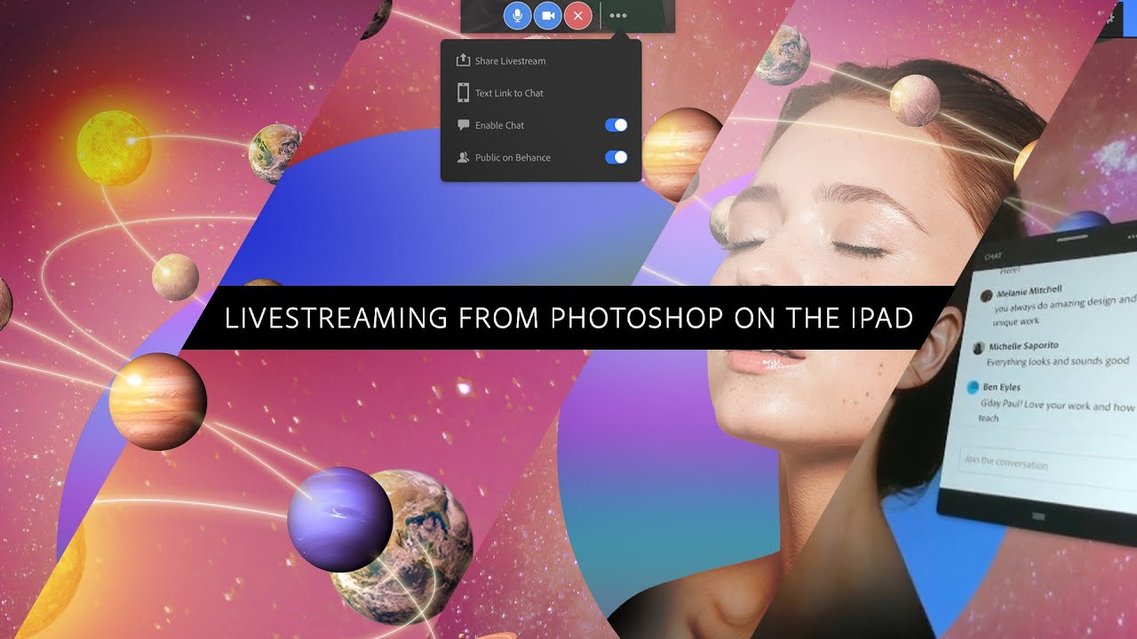 Livestreaming from Photoshop on the iPad - #PHOMO