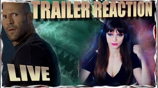 The Meg Trailer #1 (2018) Reaction Live