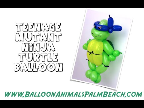 How To Make A Teenage Mutant Ninja Turtle Balloon Balloon Animals