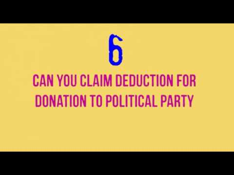 [FRED] Claim Deduction Donation To Political Party