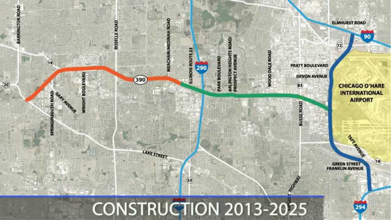 Elgin O'Hare Western Access (EOWA) Project Overview on chicago construction, illinois interchange construction, illinois bridge construction, illinois highway construction, illinois road construction,