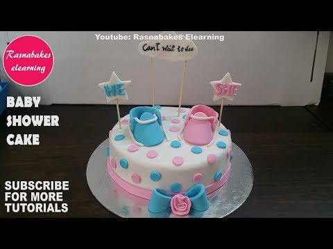 Baby Shower Cakes Design Ideas Pink Or Blue For Boy Or Girl 3d Fondant Shoes Or Booties Decorating