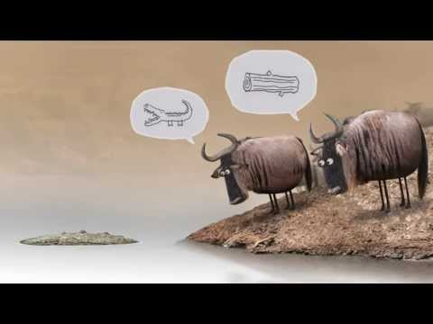 Lo gnu e il coccodrillo - Wildebeest from Birdbox Studio