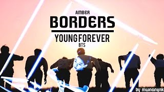 bts x amber young forever borders mashup