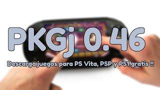 PKGj v0.46: Descargar juegos de PS Vita, PSP y PS1