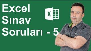 Excel Uygulama Sınavı 6. Soru- 325.video   Ömer BAĞCI