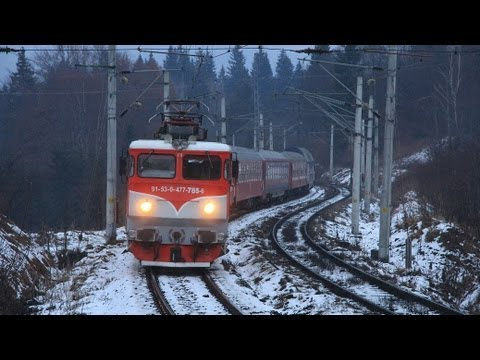 Modern Passenger Trains @ 1000 meters altitude in Predeal [D