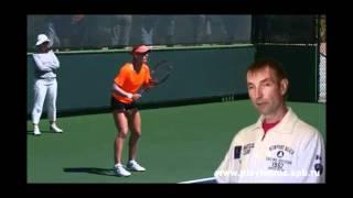 Уроки тенниса  Замах при ударе справа
