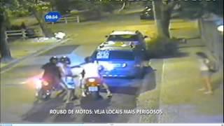Matéria sobre roubo de motos e morte de motociclistas REDE RECORD