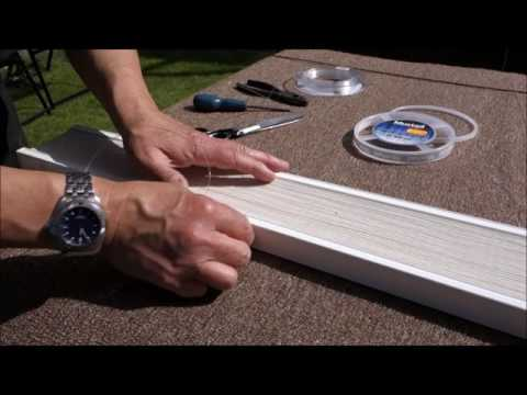 How to repair a pleated paper conservatory roof blind