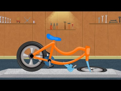 Bicycle Car Garage | Video For Kids & Toddlers