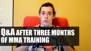 q a after three months of mma training martial arts journey