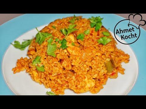 Bulgur mit Hähnchen Schnitzel | Ahmet Kocht | türkisch kochen | Folge 283