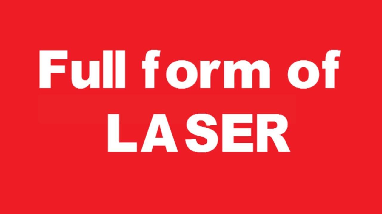 Full form of LASER - YouTube