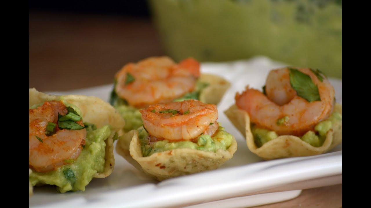 Receta aperitivo camarones con guacamole c mo hacer - Como hacer aperitivos frios ...