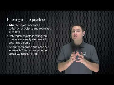 Windows PowerShell Fundamentals Chapter 08 - Pipeline Filtering and Operators