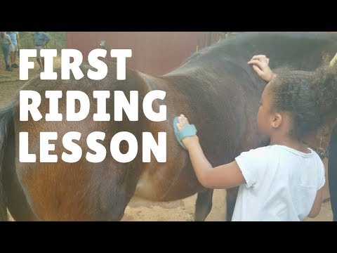 Princess Naila's First Horseback Riding Lesson