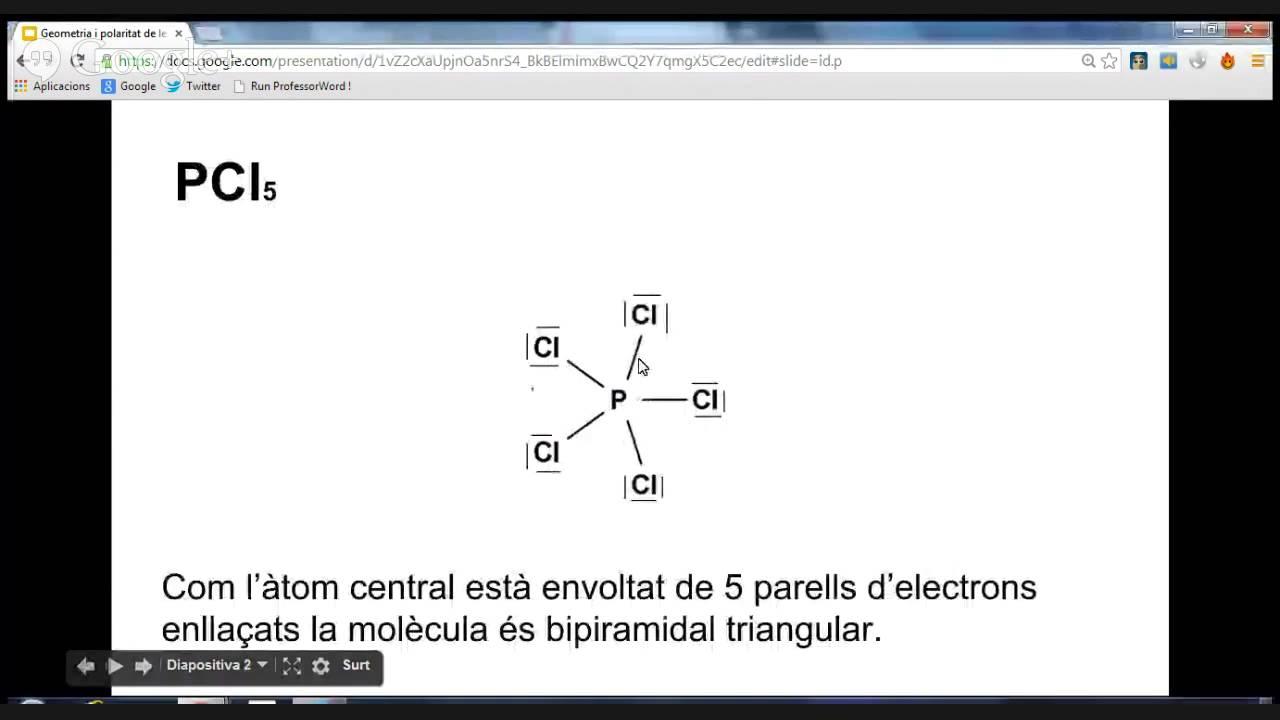 Geometria i polaritat del PCl5 - YouTube