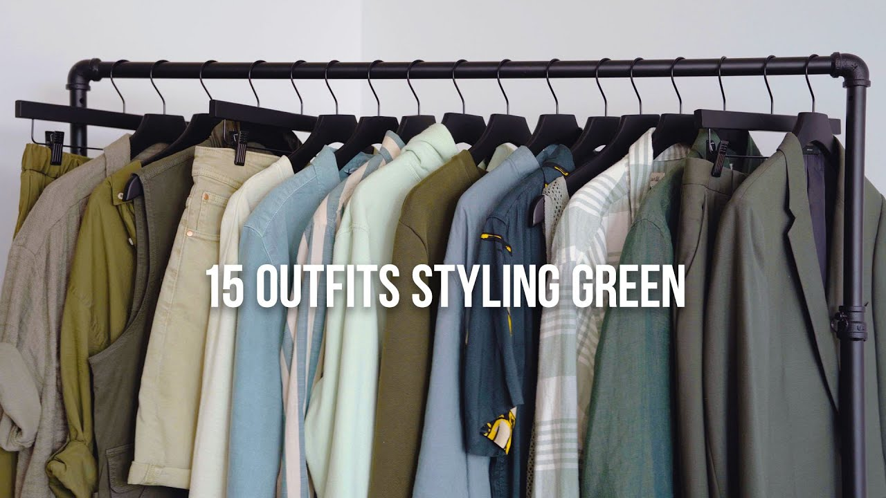 How to Style Green Outfits | Monochromatic Color Theory in Men's Fashion