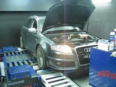 AUDI RS4 ON DYNO AFTER MODS !!!!!