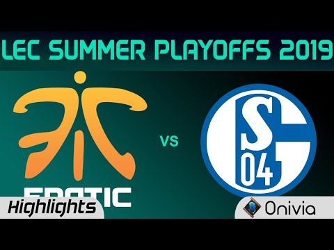 FNC vs S04 Highlights Game 2 LEC Summer 2019 Playoffs Fnatic vs FC Schalke04 LEC Highlights By Onivi