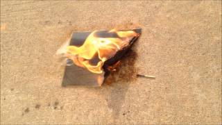 Agfa Nitrate Film Burning