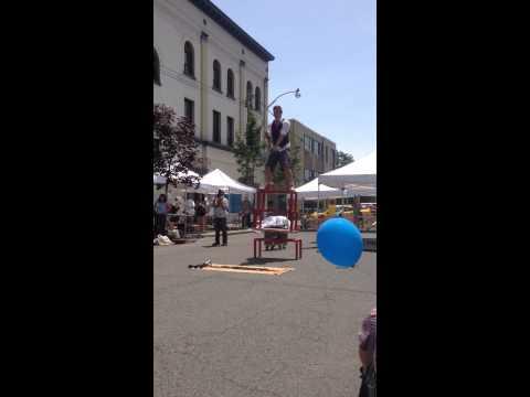 Junction Summer Solstice festival juggler