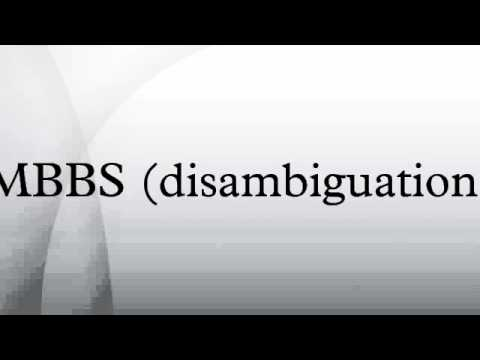 MBBS (disambiguation)