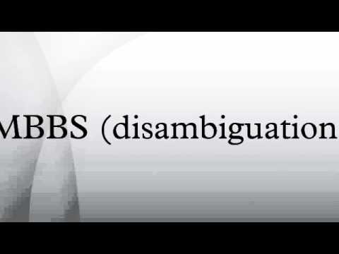 MBBS (disambiguation)