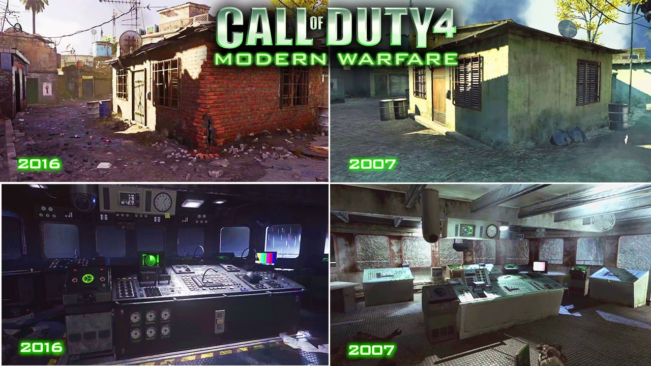 Cod4 Remastered Ps4 Graphics Vs Ps3 Xbox 360 Call Of Duty 4 Modern Warfare Remastered Youtube