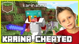 Karina was CHEATING! | Minecraft